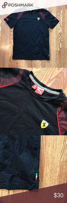 Puma X Ferrari Scuderia lifestyle T Shirt Puma X Ferrari Scuderia lifestyle t Shirt. Has lots of Ferrari and Italy details. Clean with no imperfections 9+/10. Size large. I ship out fast!! Puma Shirts Tees - Short Sleeve