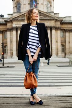 25 Outfits To Inspire Your Back To School Gate Style: Breton Tops