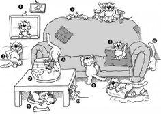 gatitos preposiciones