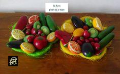 Frutta e ortaggi- Painted Stones di Rosaria Gagliardi
