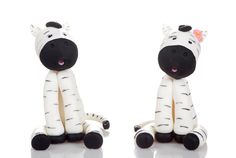Zebra Couple Cake Topper. Handmade in Cold Porcelain. Birthday / Wedding by RUSTIKOcakeDecoratio on Etsy