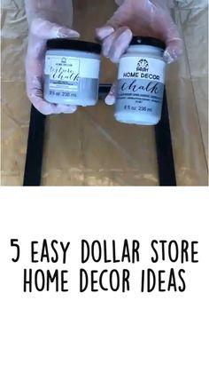 Diy Crafts For Home Decor, Diy Crafts Hacks, Upcycled Home Decor, Diy Arts And Crafts, Crafts To Do, Diy Craft Projects, Creative Crafts, Home Craft Ideas, Dollar Tree Decor