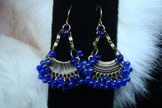 Earrings On Sale Bohemian Bling Earrings Jewelry Chandelier Earrings Deep Blue for the  Gypsy Cowgirl - pinned by pin4etsy.com
