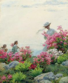 Charles Courtney Curran - Among the Wild Azaleas (1908)