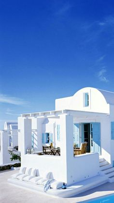 """~ My Santorini, Greece Abode ~ "" List Of Greek Islands, Zakynthos, Beautiful Homes, Beautiful Places, Casas The Sims 4, Greek House, Mediterranean Style, Greece Travel, Oh The Places You'll Go"
