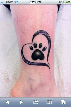 dog paw tatto | Tattoos - Chihuahua Forum : Chihuahua Breed Dog Forums