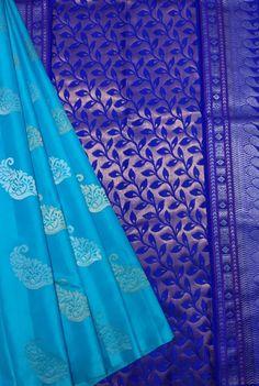 Indian Bridal Sarees, Wedding Silk Saree, Indian Silk Sarees, Pure Silk Sarees, Shades, Pure Products, Blue, Dresses, Vestidos