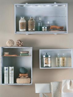 I need to get a hold of some wooden wine boxes to make bathroom shelves.