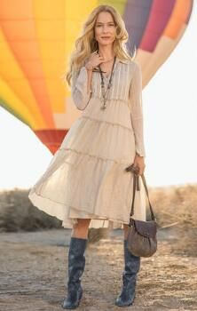 ENCHANTED DAYS DRESS Love the serenity, color, flow, boho feel