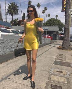 Devon Carlson wearing a satin slip dress Fashion Killa, 90s Fashion, Fashion Outfits, Womens Fashion, Devon Carlson, Devon Lee, Summer Outfits, Cute Outfits, Satin Slip