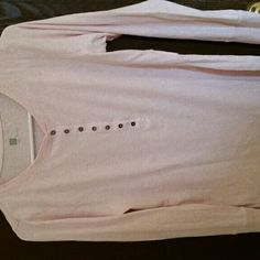 2 Gap Henly. Size large. 2 for $16!!! In light pink and white love sleeve. Buttons. Hardly  worn. Two tops. Great condition. No stains. Hardly worn GAP Tops Tees - Long Sleeve