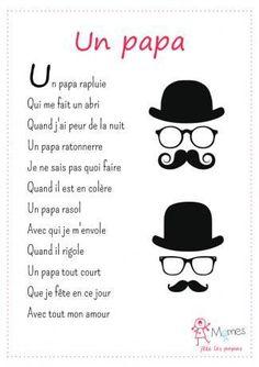 Billiges Vatertagsgeschenk Merci à Pierre Ruaud pour ce poème original pour la fête des pères!