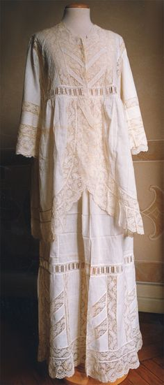 Nightgown ca. 1913 - a beautiful gown but I don't think I could wear so much material to sleep in.