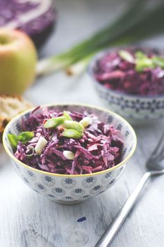 Recipe for creamy red cabbage Cole Slaw from moeyskitchen.com... #cabbage #Cole #Creamy #red #Slaw