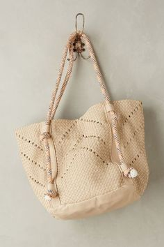 woven rope tote