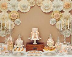 Da Vontade para a Mudança: corpo, casamento, terreno, construção de casa: Decoração com origami / lanternas, balões e flores de papel - no lugar de painéis