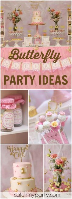 You have to see this pretty pastel butterfly birthday party! See more party ideas at CatchMyParty.com!