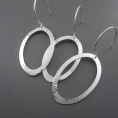 Assorted Textured Sterling Silver Hoop Earrings - Beth Millner Jewelry - 1