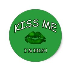 Green Kiss Me Irish Kisses St Patricks Day Sticker - saint patricks day st patricks holiday ireland irsih special party