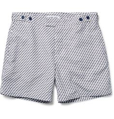 Instantly pep up holiday looks with <a href='http://www.mrporter.com/mens/Designers/Frescobol_Carioca'>Frescobol Carioca</a>'s printed swim shorts. This pair…