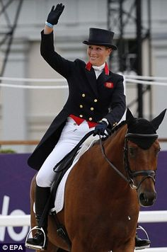 Zara Phillips riding 'High Kingdom' during the Dressage event of the Equestrian
