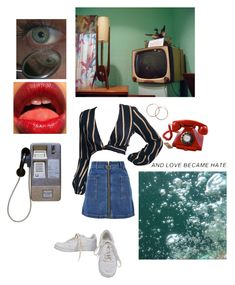 """""""Calling my phone ☎️"""" by jjjaayyyyccccc ❤ liked on Polyvore featuring NIKE, Topshop, Melissa Odabash, CO, vintage, red, water, hotel and motel"""