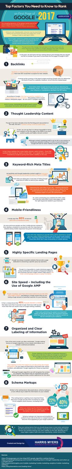 8 SEO Ranking Factors to Help You Rank Higher on Google [Infographic]  - @redwebdesign