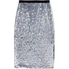 Burberry London Sequined Pencil Skirt ($2,604) ❤ liked on Polyvore featuring skirts, metallic, sequin skirts, burberry skirt, burberry, metallic skirt and pencil skirt