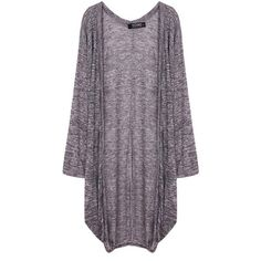Yoins Yoins Bat Sleeve Draped Cardigan ($21) ❤ liked on Polyvore featuring tops, cardigans, outerwear, jackets, sweaters, grey, shirts & tops, cami shirt, batwing sleeve cardigan and drape top