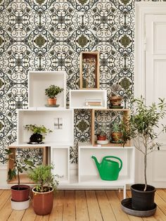 ORGANIC TILES Wallpaper from The Fabric Story Collection by MINDTHEGAP