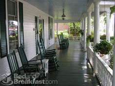 LARGE front porch with rocking chairs, a swing, etc. is a MUST