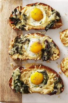 50 Best Mom's Day Brunch Recipes - Chard and Gruyère Eggs in the Hole - GoodHousekeeping.com