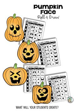 These easy pumpkin face ideas will make your halloween art project loads of fun for kids. Jack O Lantern face ideas for making happy, silly, goofy and spooky faces and relating them to feelings and adjectives. Art Lessons For Kids, Art Activities For Kids, Art Lessons Elementary, Halloween Activities, Halloween Art Projects, Fall Art Projects, Pumpkin Art, Pumpkin Faces, Drawing Games For Kids
