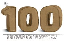100 Most Creative People in Business 2012. Innovators who dare to think differently and ones taking risks and discovering surprising new solutions to old problems.