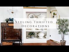 Styling Thrifted Decorations, Pt 11 - YouTube Great Deals, Homemaking, Staging, Thrifting, Entryway Tables, Decorations, My Style, Youtube, Creativity