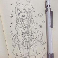 fashion sketch how to draw Cute Sketches, Art Drawings Sketches Simple, Kawaii Drawings, Cartoon Drawings, Cute Drawings, Anime Character Drawing, Manga Drawing, Manga Art, Character Art