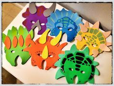 Dinosaur foam party masks