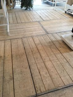 To Dallas, To Dallas, To Dallas We Go! Segreto Secrets Blog!The owner, who is a designer married to a builder, really was creative with the space. Look at these old French pallets made into floors-what a great idea!!