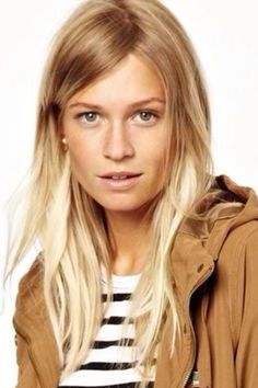 Need to grow hair out.  Love this subtle ombré, if I had blonde hair. fall 2013