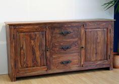 GI-4662: Sideboard Anrichte Holz Massiv Palisander Landhausstil Wohnzimmer