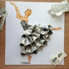 #vestido de papel periodico  ;-)