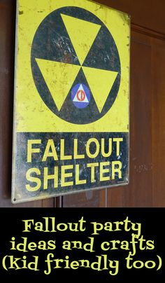 Fallout party ideas and crafts. Includes items from Fallout 3 and non food related. This party was for a tween boy but adult Fallout fans loved it too. Fallout Theme, Fallout Art, 9th Birthday Parties, 11th Birthday, Birthday Ideas, Xbox Party, Fallout Cosplay, New Years Decorations, Party Time