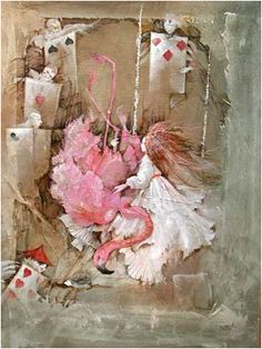 Flamingo Croquet  By Anne Bachelier...    (I loooove her works of Alice... wish I have one) :D