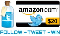 Follow it, Tweet it and Win it – $20 Amazon Gift Card Giveaway
