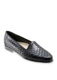 Trotters Black Liz Woven Loafer