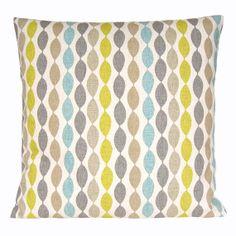 Decorative Pillow Cover - 16x16 Inch Cushion Cover - Gemstone Aqua via Etsy $13.50