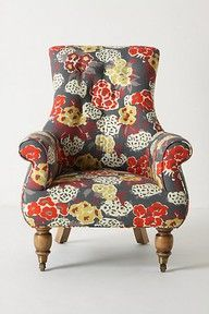 really would love to reupholster my chairs to have some kind of floral like this