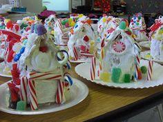 Milk carton gingerbread houses! :)