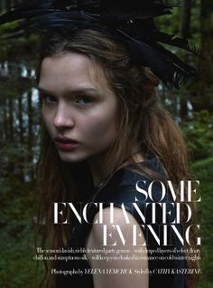 some enchanted evening: josphine skriver by yelena yemchuk for uk harper's bazaar december 2012 | visual optimism; fashion editorials, shows, campaigns & more!