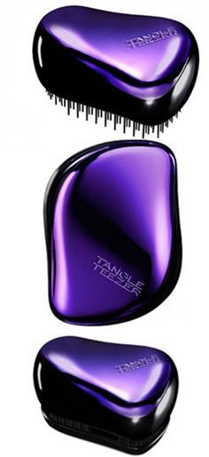 Purple Metallic Tangle Teezer Compact... with a lid! BUY HERE and retail in your salon: